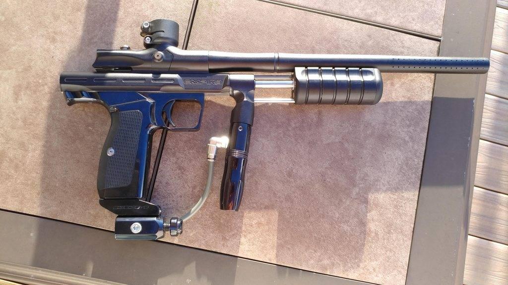 The gun on the floor