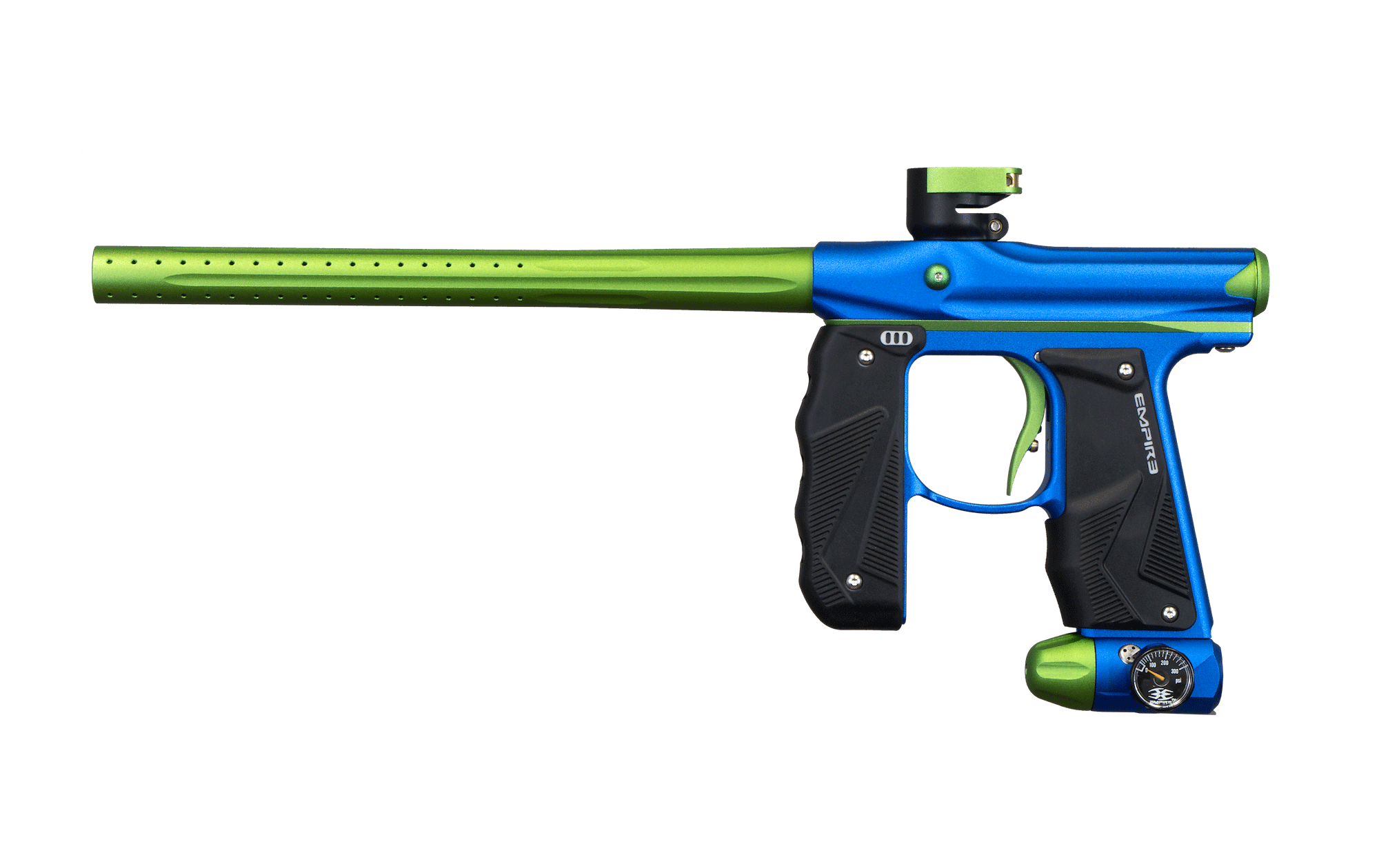 Green and blue color paintball gun