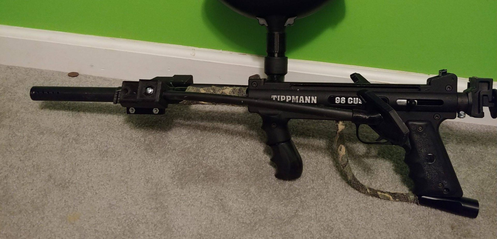 Paintball Gun attached with a bipod