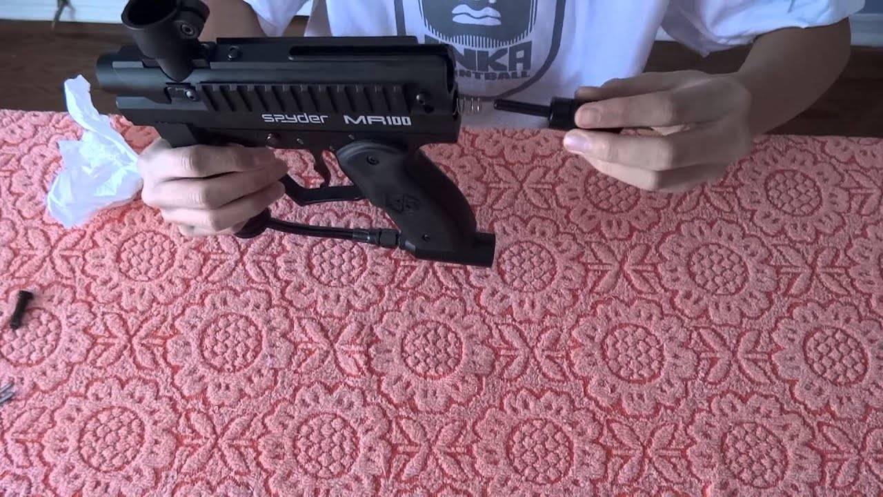 Routine check up of mr100 paintball gun