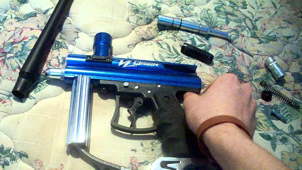 Photo showing how you can disassemble your paintball gun