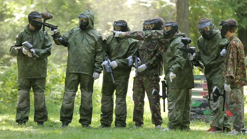 A team of paintball